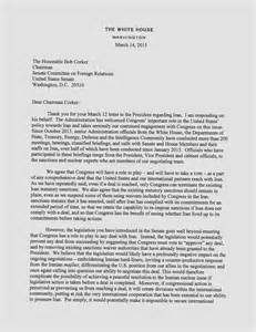 Nuclear Worker Cover Letter by Read The Disputed Letters About Iran Nuclear Pact Stirring Tension In Washington Pbs Newshour