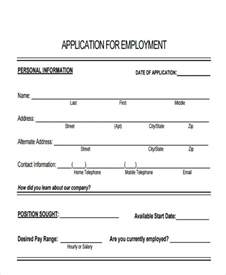 application for employment california template 49 application form templates free premium templates