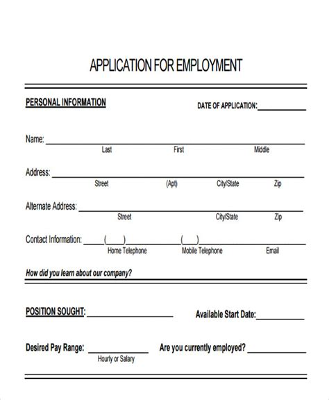 standard application form template 49 application form templates free premium templates