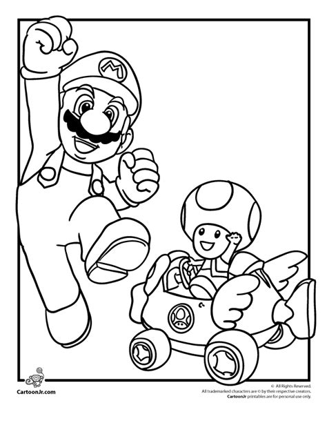 free mario kart wii coloring pages