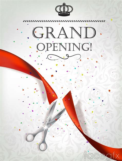 invitation card design for grand opening exquisite opening ceremony invitation poster vector