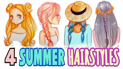 Drawing 4 Fall Hairstyles by How To Draw 4 Summer Hairstyles
