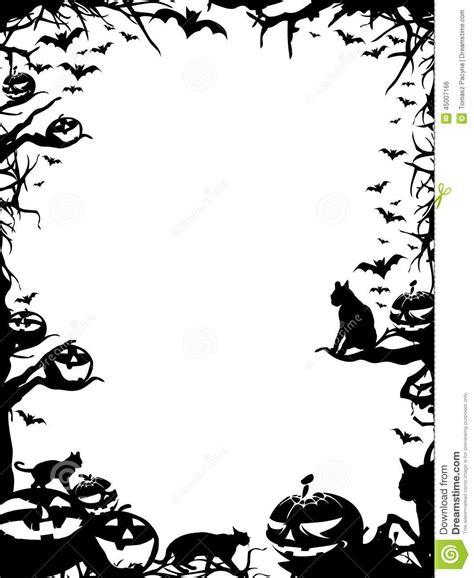 imagenes blanco y negro de halloween frontera del marco de halloween aislada en blanco stock de