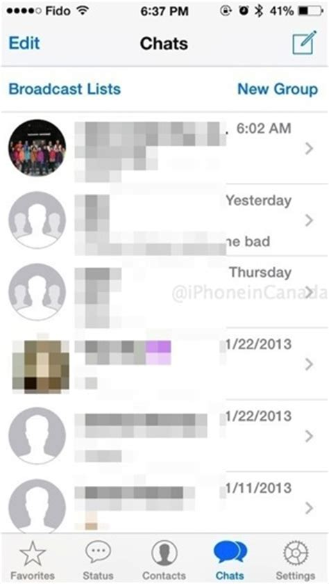 novo layout whatsapp iphone whatsapp gets ios 7 design new broadcast lists and more