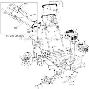 yard machine push mower parts yard machines 11a 506f372 parts list and diagram 1998