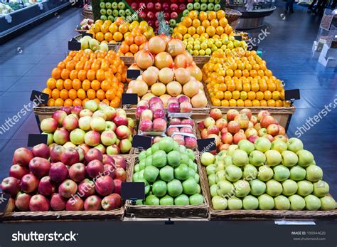 Supermarket Fruit Section Stock Photo 190944620 Shutterstock