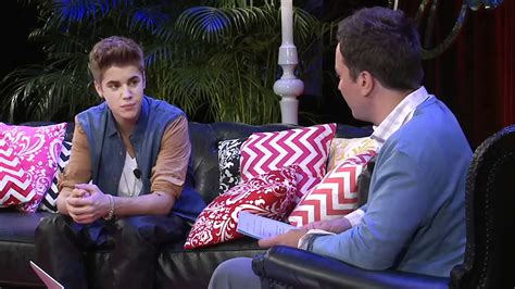 justin bieber interview nov 2012 justin bieber s youtube interview with jimmy fallon 21