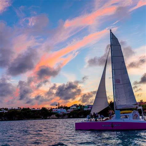 sunset catamaran sail shore excursion in king s wharf bermuda - Bermuda Catamaran Reviews