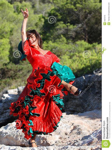 impassioned flamenco dance  stock image image