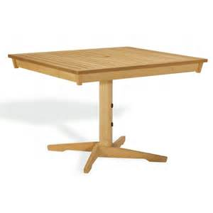 Pedestal Rectangle Dining Table Shorea Wood Rectangle Pedestal Outdoor Dining Table 45 Inch Og Ha45pt Cozydays