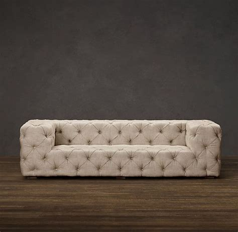 Soho Tufted Upholstered Sofas Sofas Restoration Restoration Hardware Tufted Sofa
