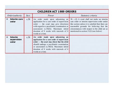section 8 of the children s act 1989 children and mental health law