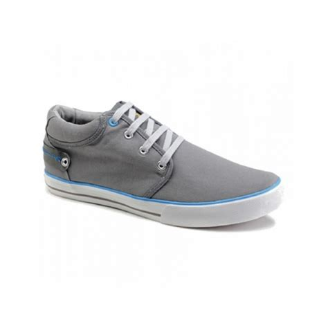 front reef mens soft canvas lace up padded shoes grey