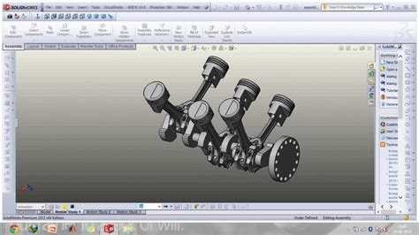 solidworks tutorial how to animate a 6 dof degrees of v6 engine solidworks 3d cad model grabcad