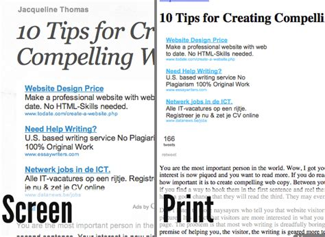 10 Tips For Better Print Style Sheets Webdesigner Depot Print Stylesheet Template