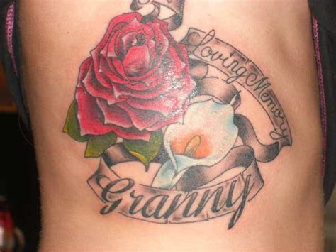 rose remembrance tattoo 25 endearing in loving memory tattoos slodive