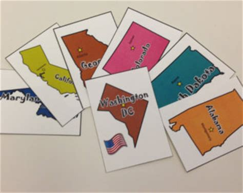 printable flash cards united states states and capitals etsy