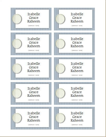 Name Tag Templates For Ms Word Word Excel Templates Name Tag Template Microsoft Word