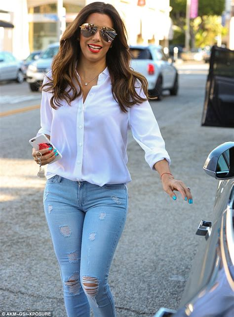 Rahisa Blouse longoria looks fantastic in tight and a white