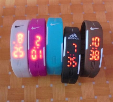 Jam Led Nike Model Baru jual jam tangan gelang led digital nike adidas tvg