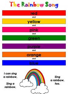 songs with color in the title song sheets for kindergarten