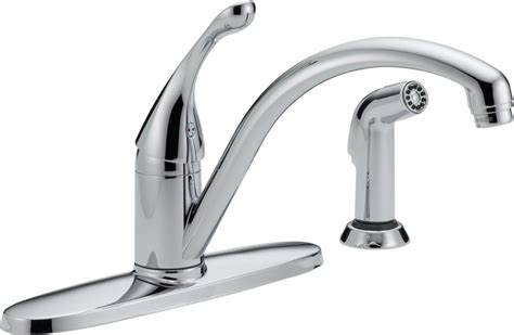 delta kitchen faucet warranty faucet 440 dst in chrome by delta