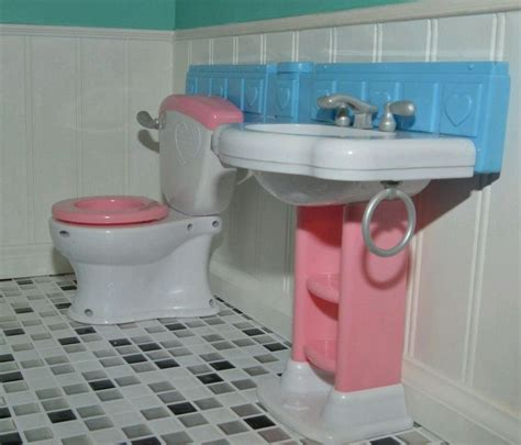 american girl bathroom sink toilet set used for american girl any 18 quot doll