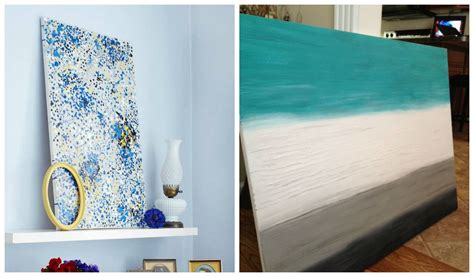 25 creative and easy diy canvas wall ideas