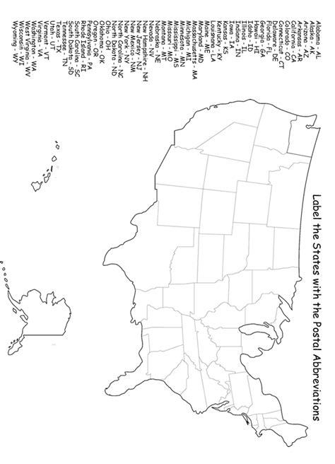 States Map Quiz Worksheet by Label The States Worksheet Homeschool Helper