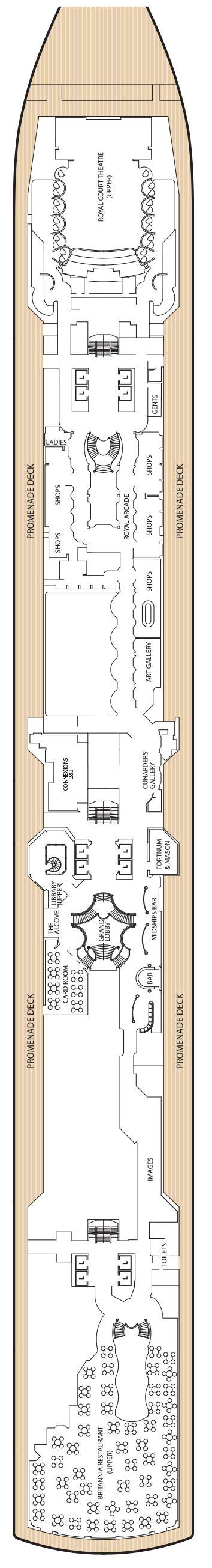 Deck Plan Elizabeth by Elizabeth Cunard Elizabeth