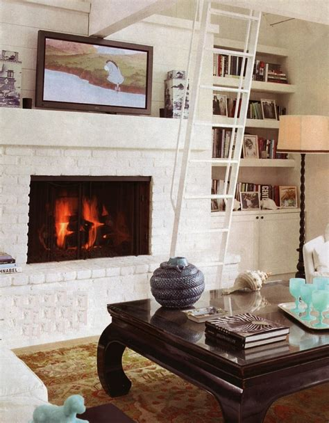 White Brick Fireplace Decorating Ideas by Living Room Living Room With Brick Fireplace Decorating