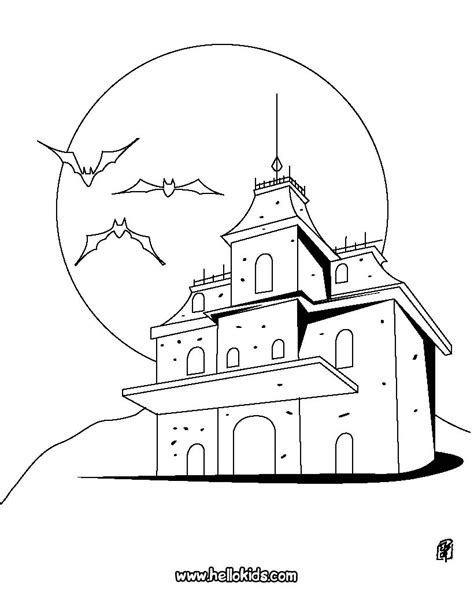 vires haunted manor coloring pages hellokids com