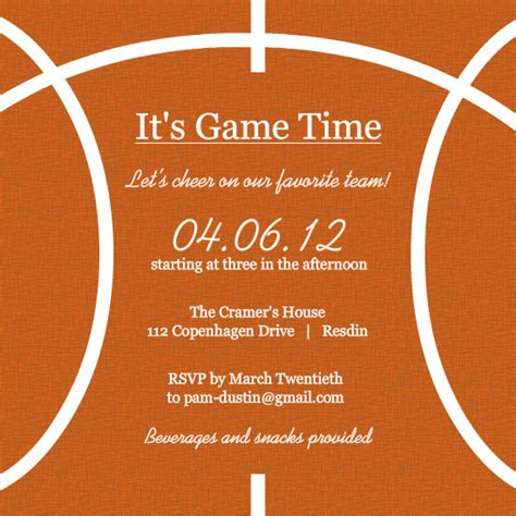 banquet invitation templates free basketball half court template templates resume
