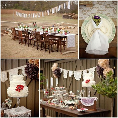 Hochzeitseinladung Jute Spitze by Rustikale Hochzeit Inspiration Spitze Und Jute Tischdeko