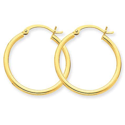 earrings store 10k gold hoop earrings 1 inch