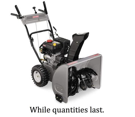 Outdoor Furniture Sale Sears - craftsman 24 in dual stage snow blower snow removal is easy at sears