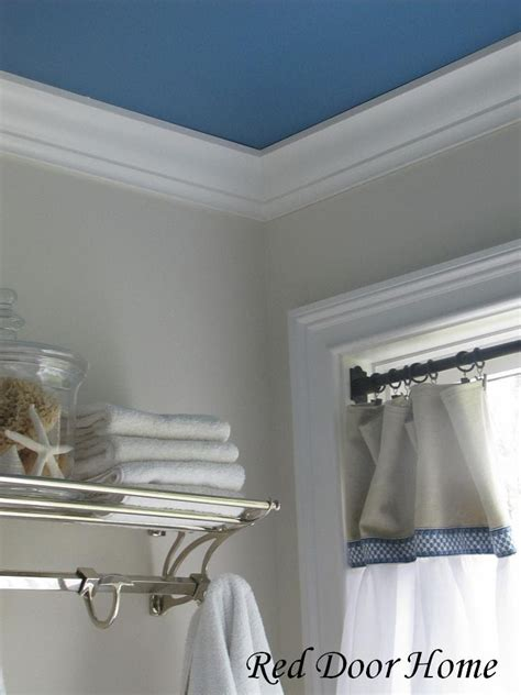 blue bathroom ceiling red door home two simple ideas to add character to your