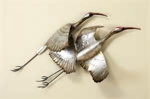 photos metal wall crane in flight d metal wall art