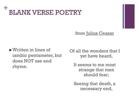 blank verse poetry exles pictures to pin on