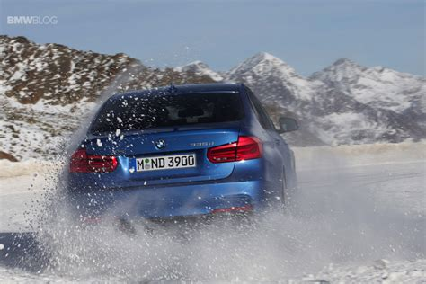 bmw in snow bmw 335d xdrive lci with m sport package in snow