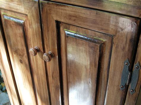 Staining Unfinished Cabinets by How To Paint Stained Wood In A Bathroom Cabinet