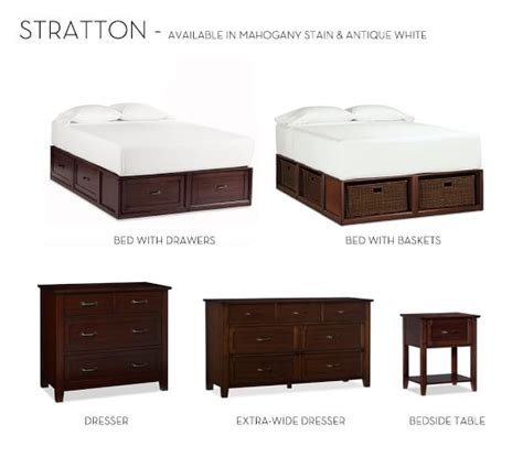 Stratton Bed With Drawers by Stratton Storage Platform Bed With Drawers Pottery Barn