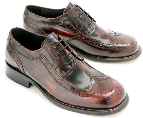 skinhead shoes ikon originals toe cap skinhead mod brogue shoes ox blood