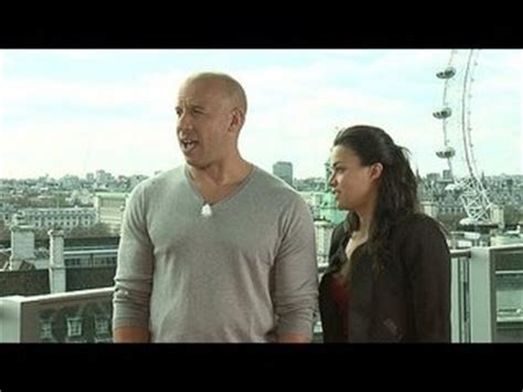 fast and furious 8 vin diesel interview fast furious 6 vin diesel michelle rodriguez junket