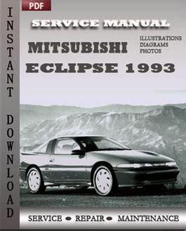 mitsubishi eclipse 1993 service manual pdf download