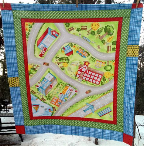Panel Play Quilt Book by Starwood Quilter Grandson S Quilt Happy Town