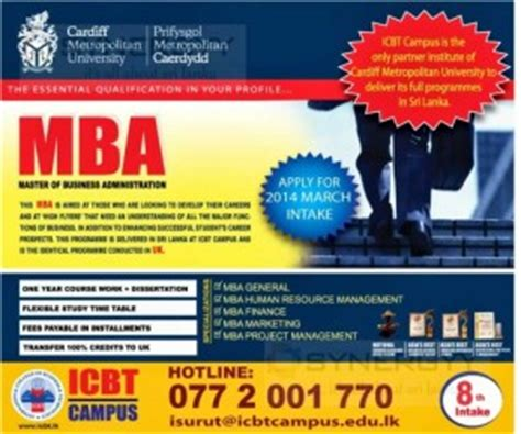 Cardiff Business School Mba Fees by Cardiff Metropolitan Mba Master Of Business