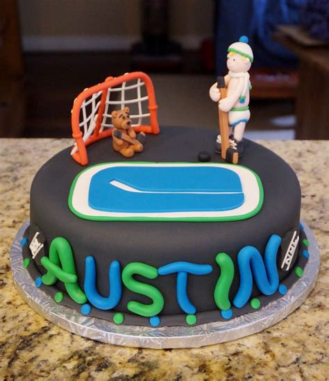 Themed Birthday Cakes Vancouver | vancouver canucks themed birthday cake cakes and