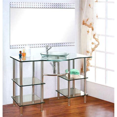 Solid Wood Bathroom Cabinet High Quality Solid Wood Bathroom Cabinet Glass Wash Basin