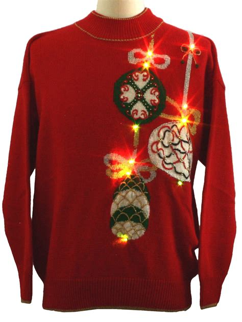 jumper lights up lightup sweater retro look